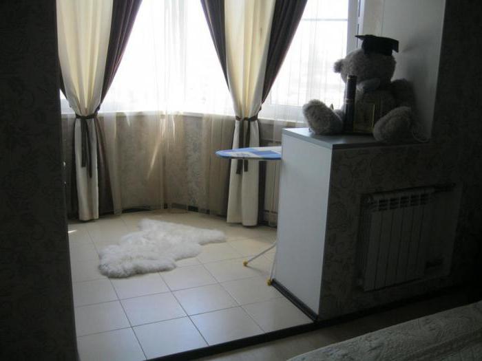 варианты объединения балкона с комнатой