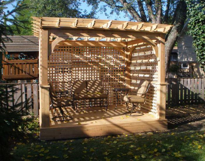 деревянные решетки для беседки фото