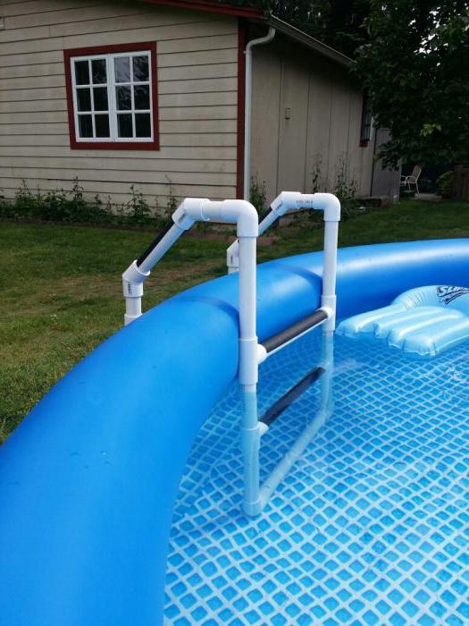 лестница для бассейна из нержавейки