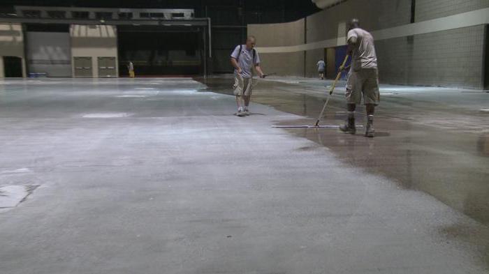 правильный бетонный пол