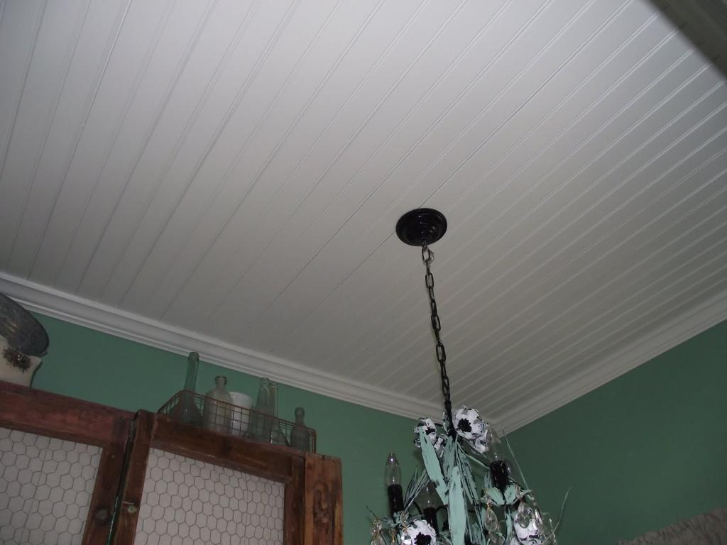 suspended ceiling in the bathroom