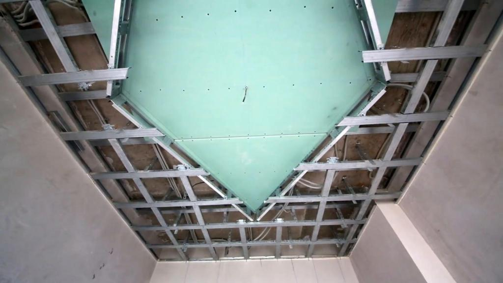 двухъярусный потолок из гипсокартона фото каркаса запросу