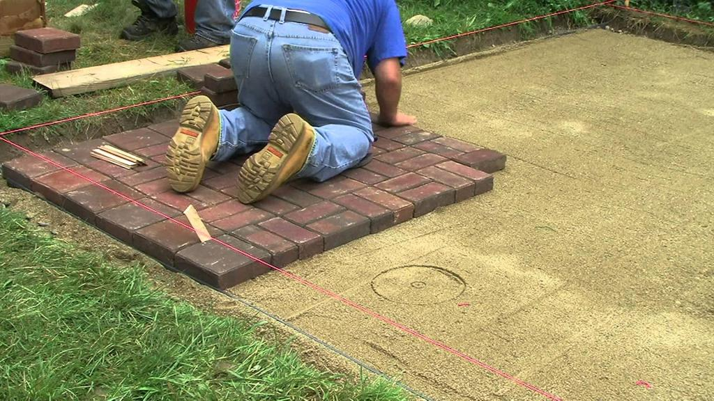 how to lay the paving tiles with your own hands