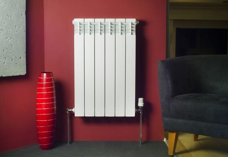 тепловая мощность одной секции алюминиевого радиатора