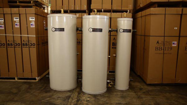 solid-fuel boiler buffer tank