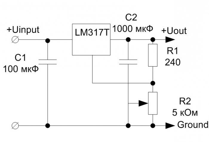 LM317T блок питания