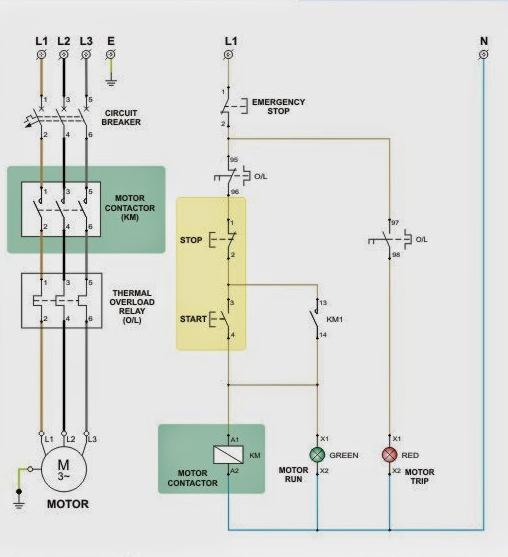 магнитный пускатель схема подключения реверс