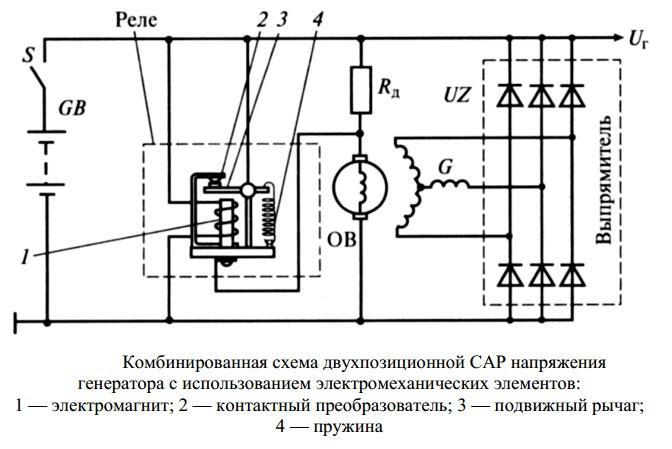реле регулятор напряжения генератора ланос