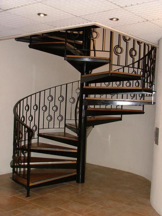 Винтовая лестница своими руками - из металла 41