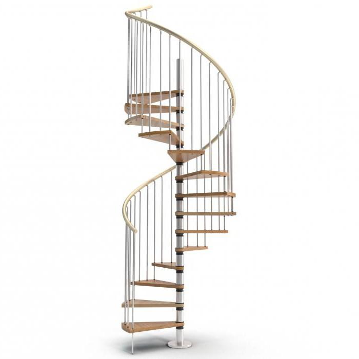 винтовая лестница из дерева своими руками чертежи