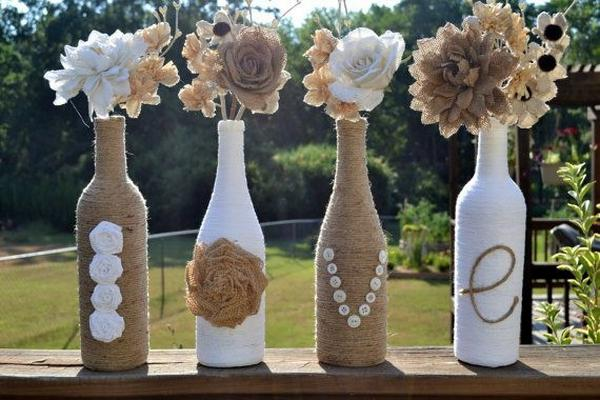 Своими руками бутылка сделана под вазу
