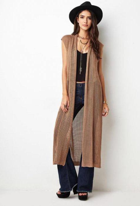 Трикотажные жилеты женские с чем носить