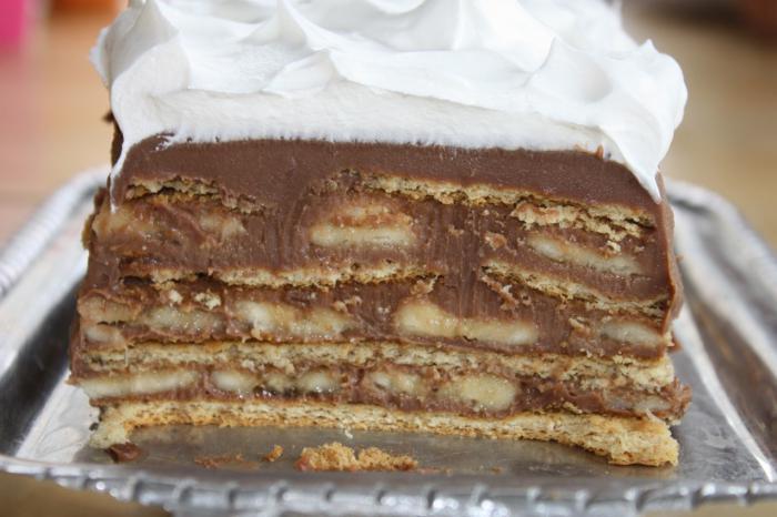 Торт из рыбок крекеров