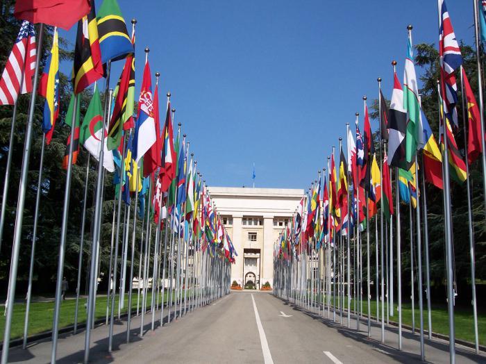 почему перед зданием ООН развеваются флаги