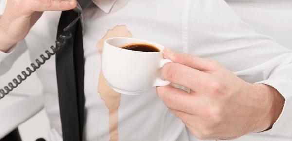 Вывести пятна кофе белого фото