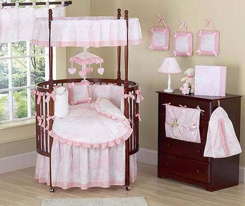 Кроватка для новорожденного круглая