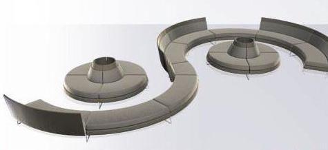 Модульные полукруглые диваны для гостиной