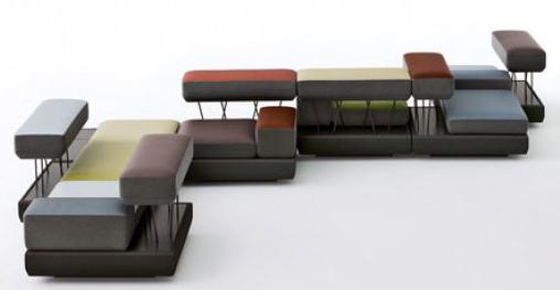 Современные модульные диваны для гостиной