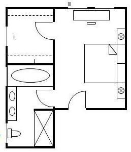 Маленькая гардеробная комната планировка с размерами