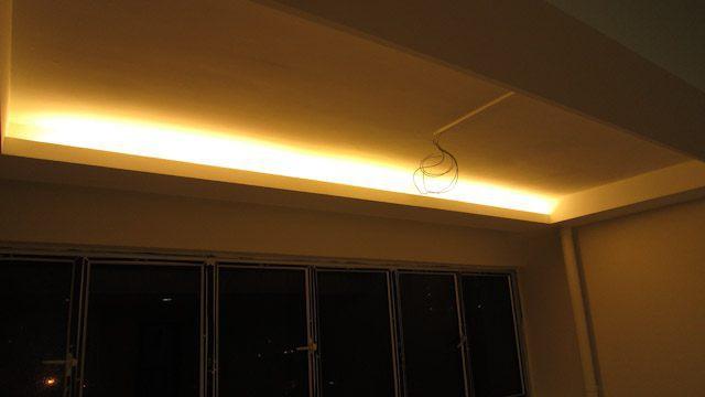 Beleuchtung in der Loggia