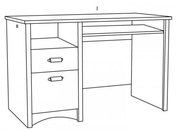 Чертеж письменного стола с размерами для школьника
