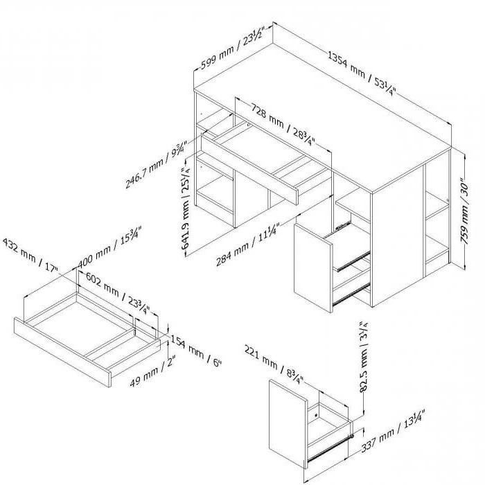 Стандартные размеры письменного стола для школьника
