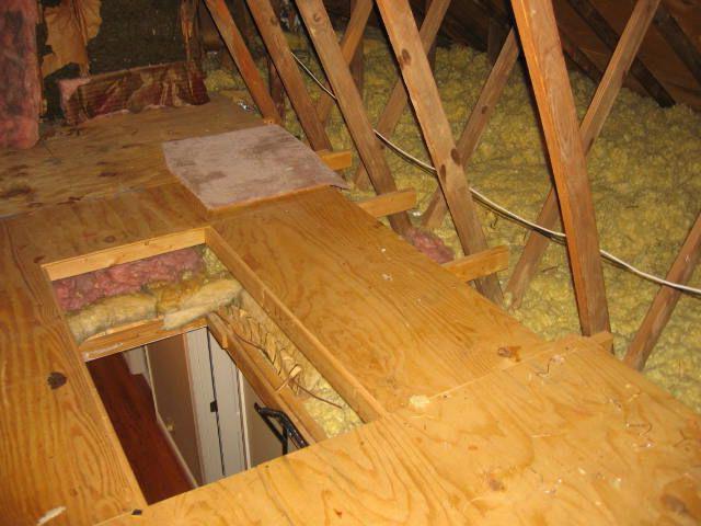 Устройство чердачного перекрытия по деревянным балкам