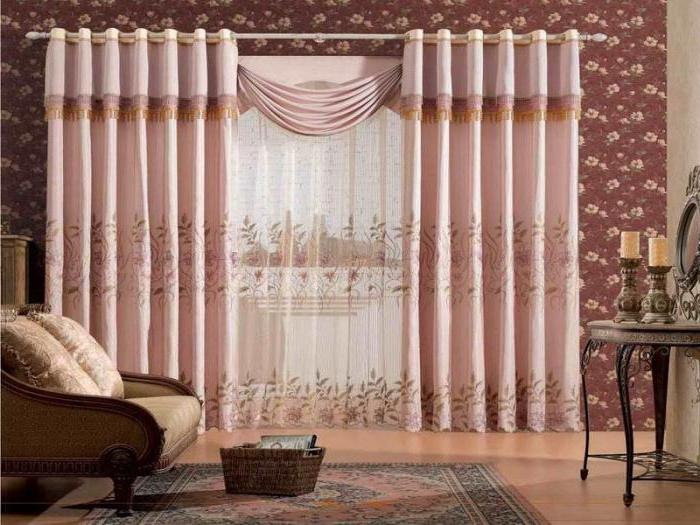 Как красиво повесить шторы в зале