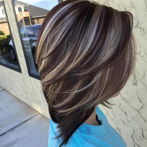 Мелирование на коричневые волосы