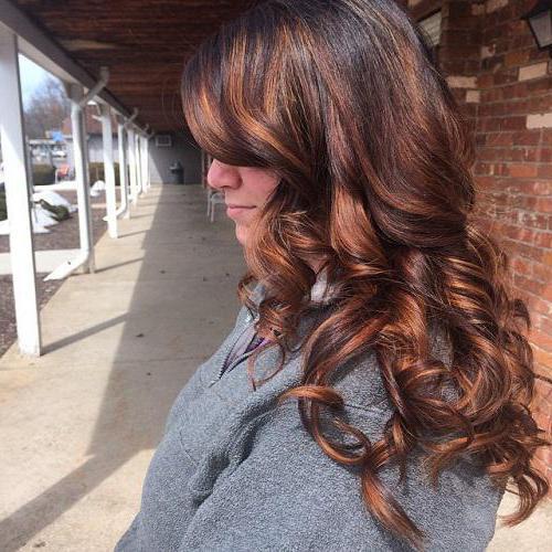 Мелирование на коричневые волосы фото