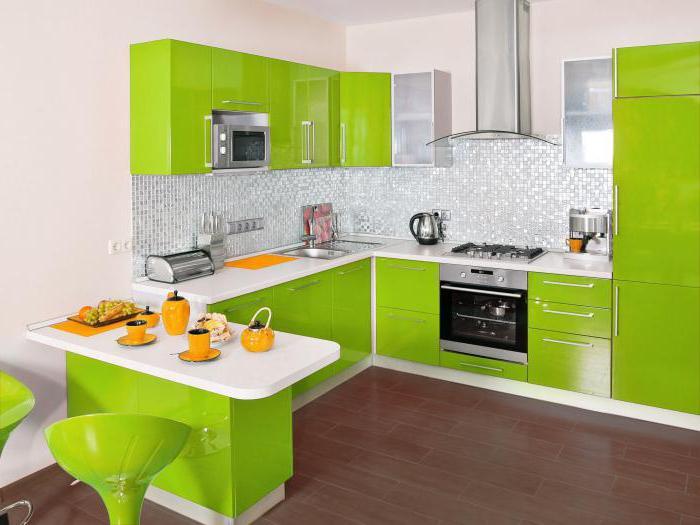 Кухни цвета лайм