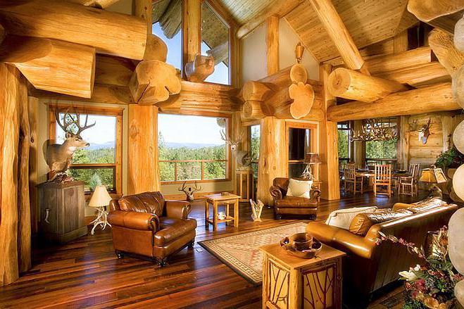 Дом из бревна дизайн интерьера