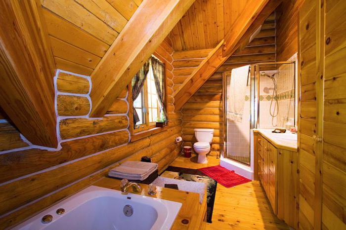 Дизайн интерьера деревянного дома из бревна