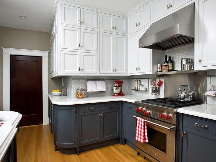 Кухня низ темный верх светлый фото