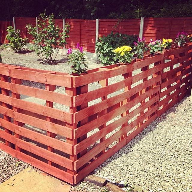 Забор из поддонов как построить