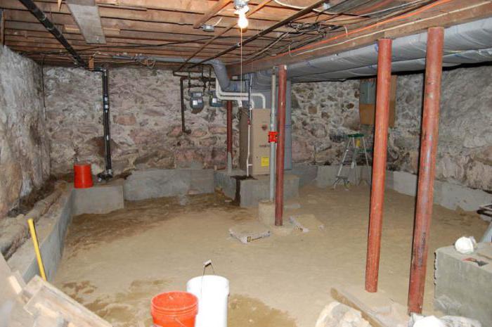 как сделать подвал сухим в частном доме