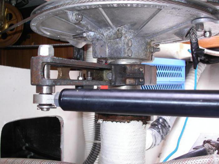 Рулевое управление на моторную лодку
