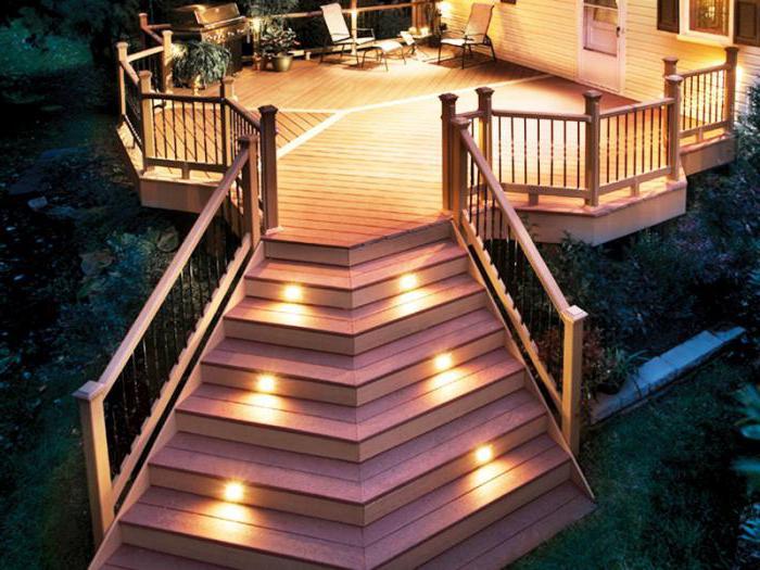 Декоративное освещение загородного дома фото