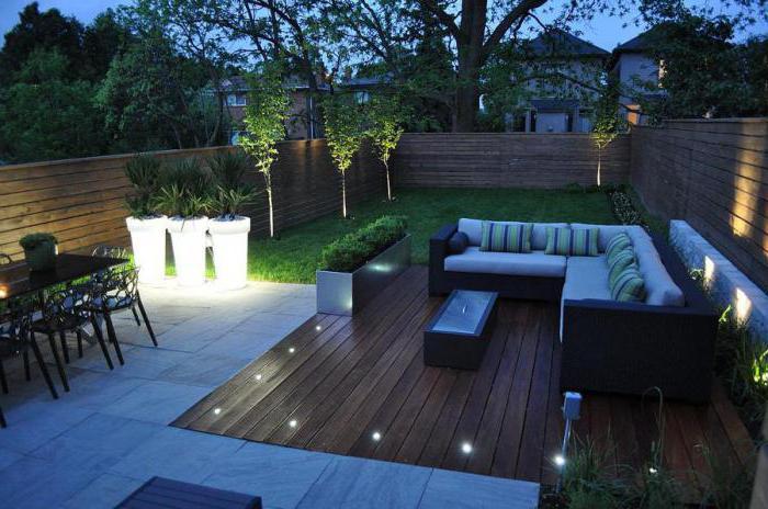 Освещение загородного дома внутри