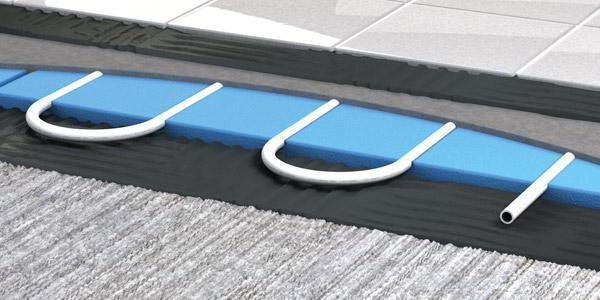 Теплый водяной пол без стяжки под плитку