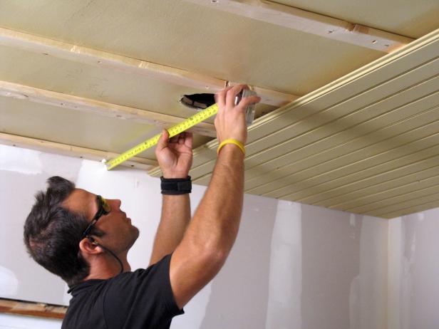 DIY PVC suspended ceiling