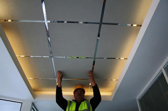 DIY ceiling installation