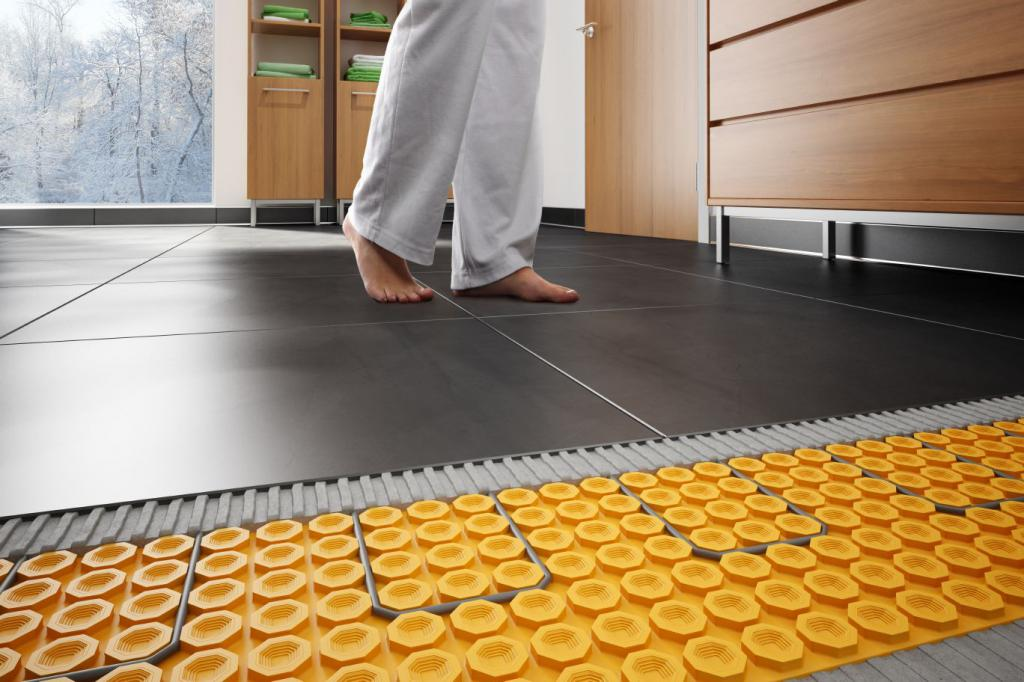 underfloor heating in a private house