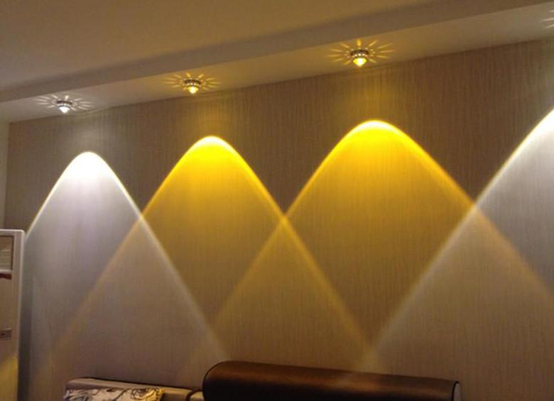 Lighting in a studio apartment