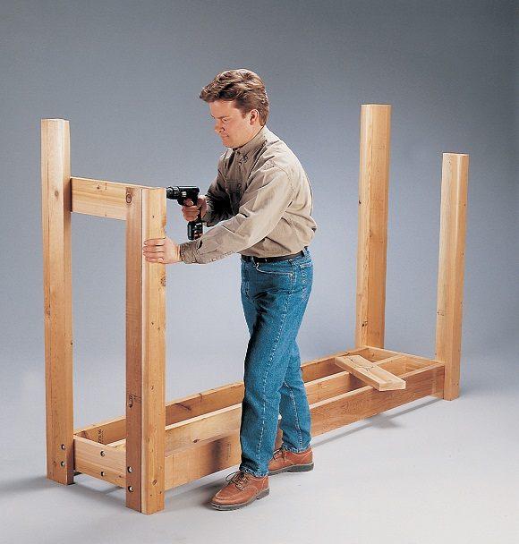 Как построить дровяник своими руками