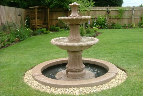 Polyresin fountain for a summer residence
