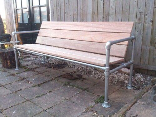 Plastic pipe bench
