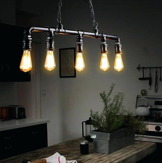 Кухни в стиле лофт освещение