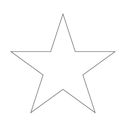 Как нарисовать звезду с помощью линейки
