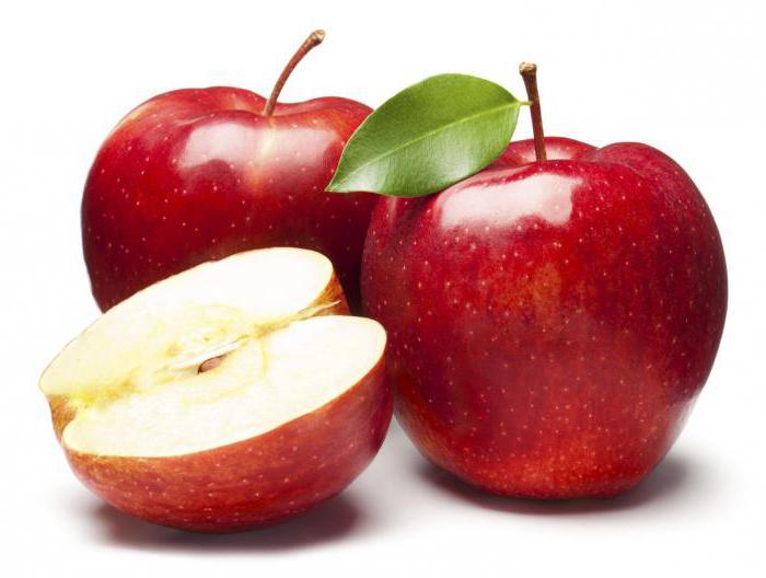 Сколько сахара в яблоке